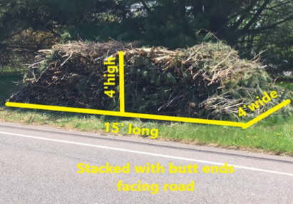 Brush Pile Guidelines with dimensions