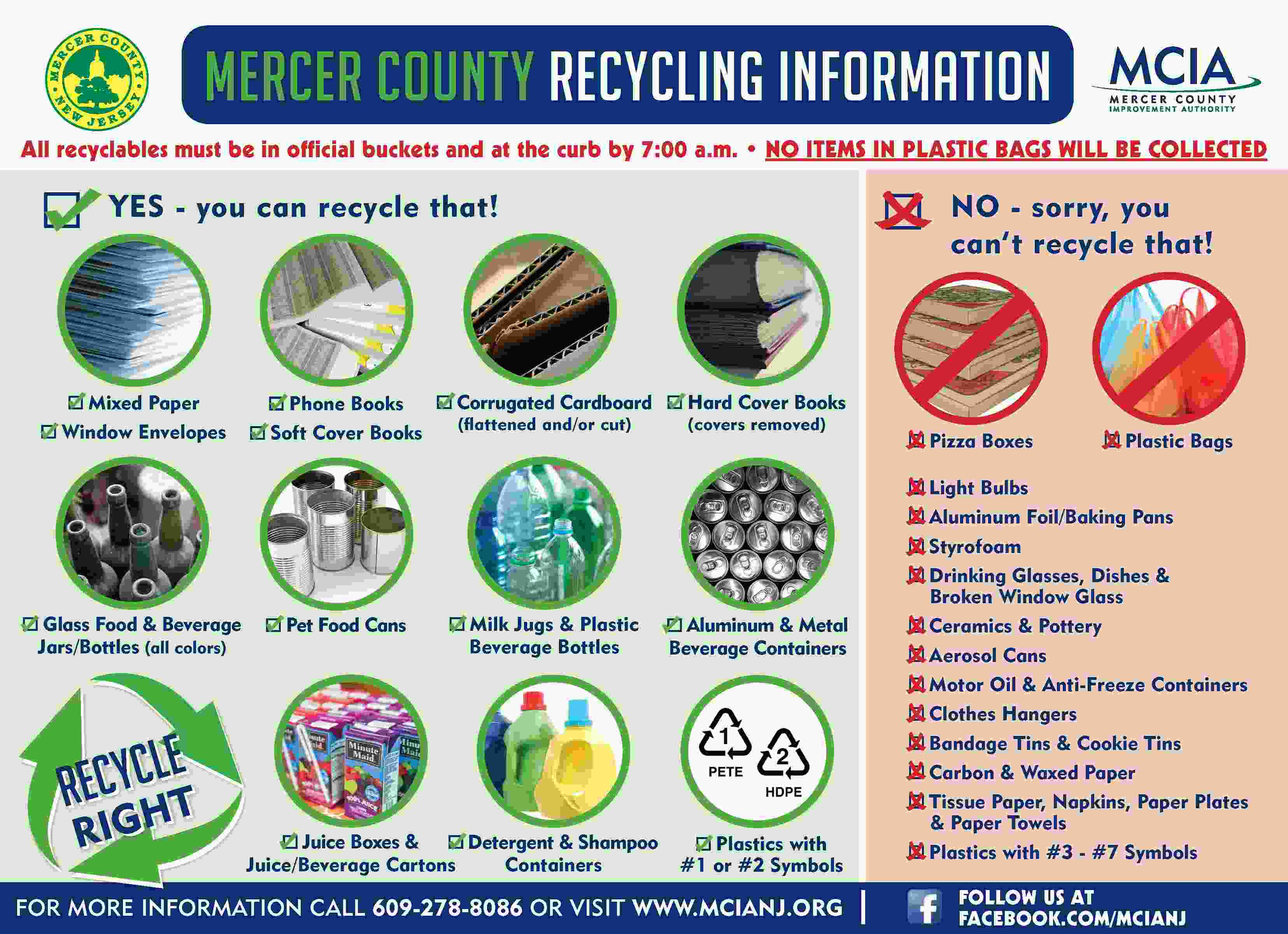 Recycling rules from Mercer County Improvement Authority