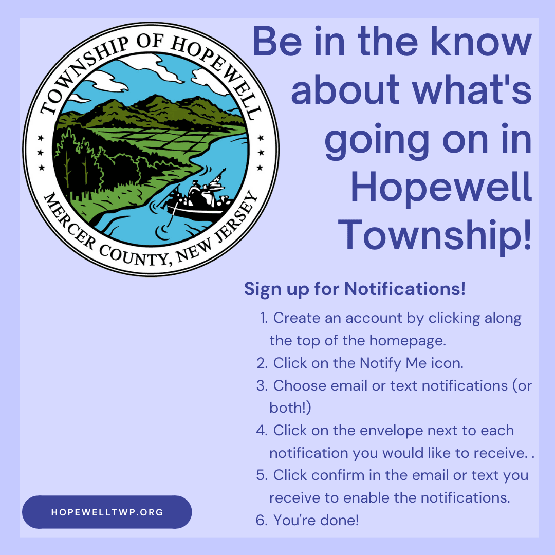Be in the know about what's going on in Hopewell Township